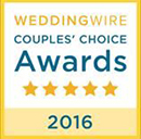 A Couples' Choice Awards 2016 badge received by Butternut Farm Golf Club from WeddingWire